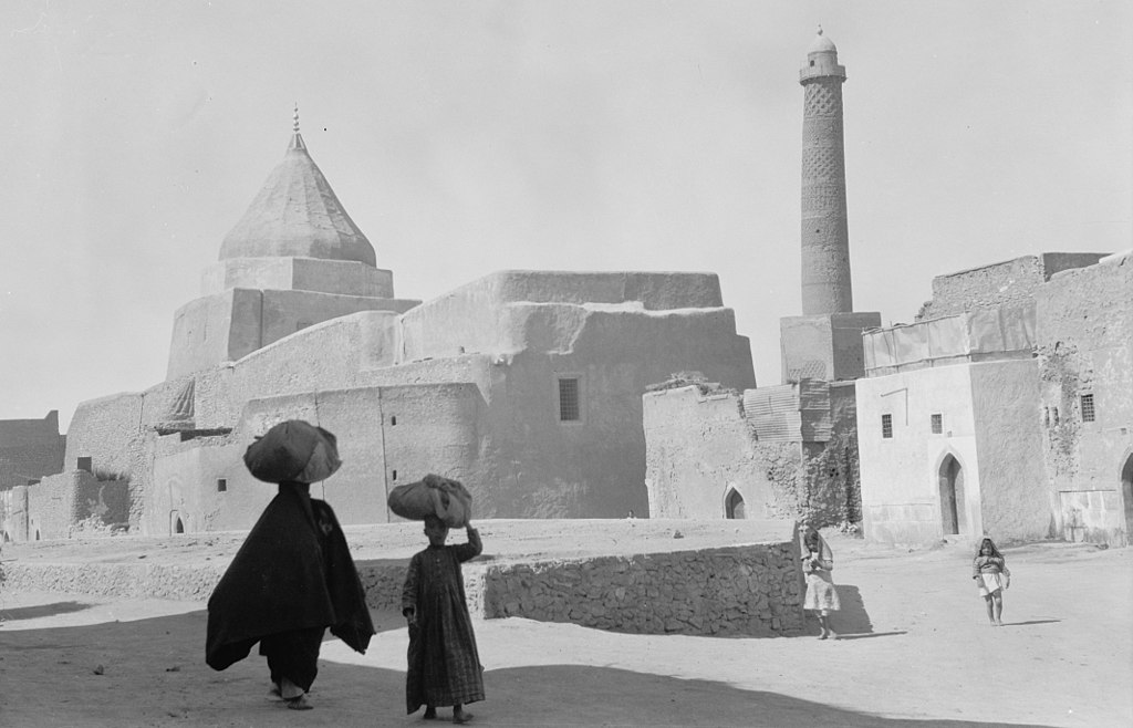 Image illustrating the mosque of al-nuri in Mosul from the early twentieth century