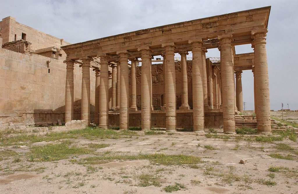 Image illustrating archaeological ruins at Hatra, Iraq