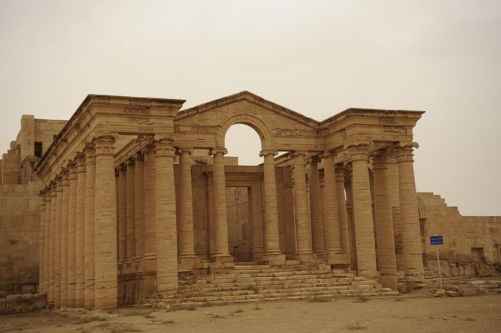 Image illustrating Roman ruins in Hatra, Iraq