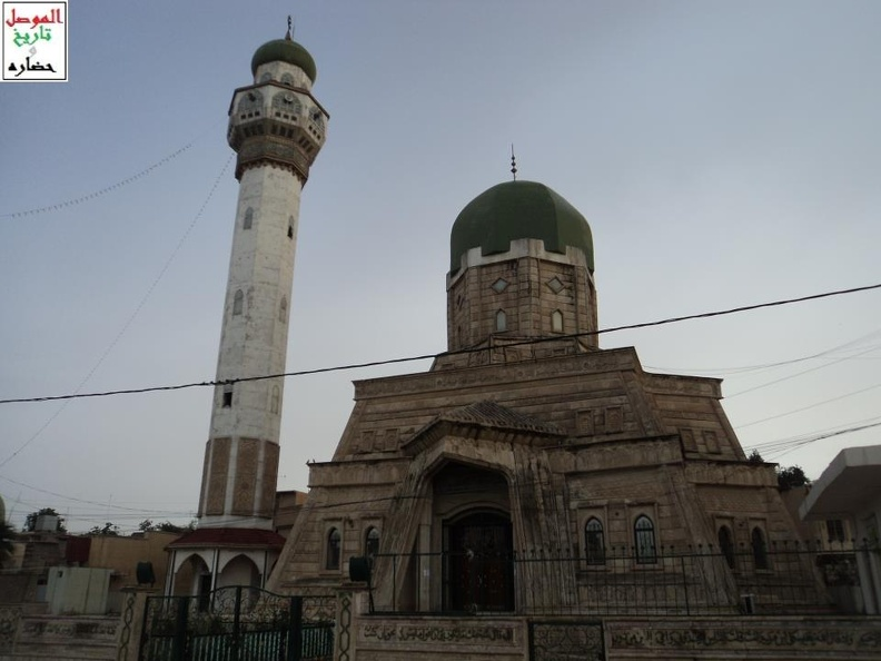 Image illustrating the Al-Imam Muhsin Mosque in Mosul, Iraq