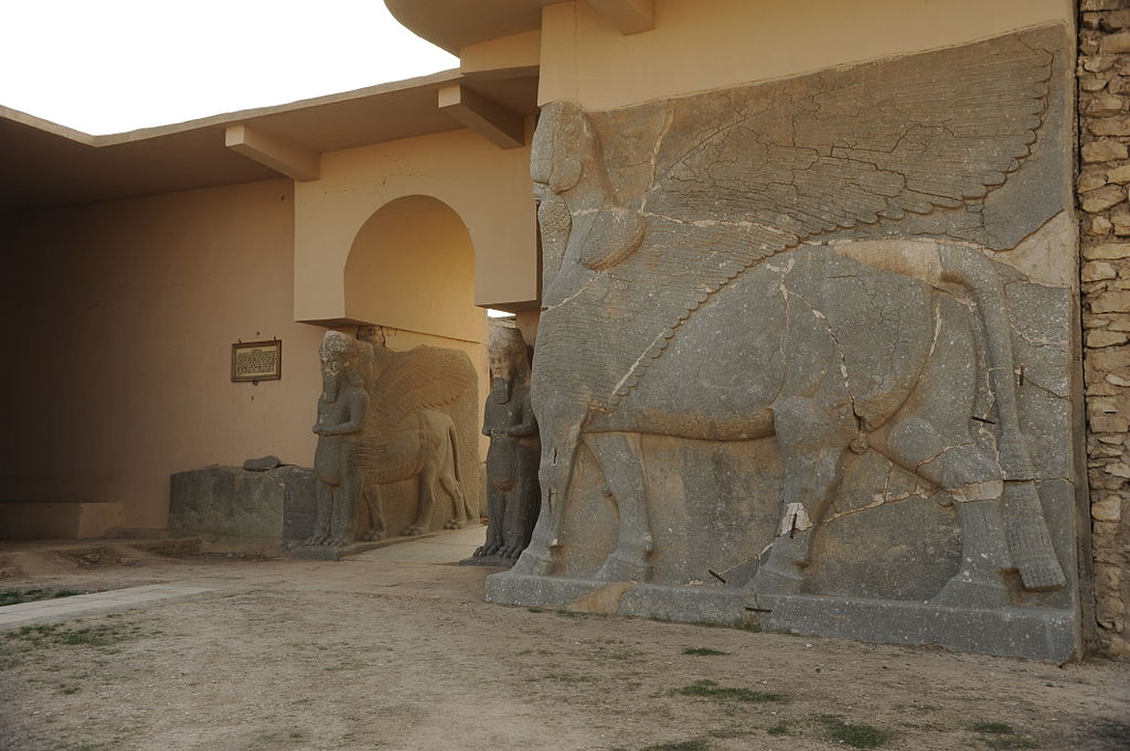 Image illustrating the archaeological site of Nimrud in northern Iraq