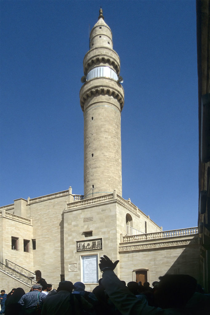 Image illustrating Minaret of Tell Nebi Yunus in Ninewa, Iraq, before it was destroyed by Daesh